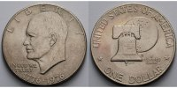 USA / United States 1 $ Eisenhower Dollar 1776 -1976, 1976  (Philadelphia), Archivbild