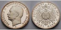 3 Mark 1915 Baden Kursmünze, Großherzog Friedrich II, 1907-1918, Patina... 1660.11 US$ 1495,00 EUR