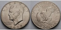 USA / United States 1 $ Eisenhower Dollar 1971 -1974, 1972 D (Denver)