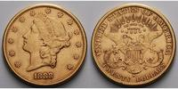 USA 20 $<br> 30,09g<br>fein<br>34 mm Liberty, San Francisco 1888 S Gold, (Coronet Head Double Eagle)