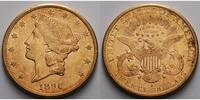 USA 20 $ 30,09gfein34 mm Liberty, San Francisco 1896 S Gold, (Coronet Head Double Eagle)