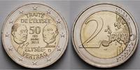 2 Euro 2013 J Deutschland 50 Jahre Élysée Vertrag, Prägestätte J  stgl ... 5.00 US$ 4,50 EUR