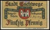 50 Pfg.  Eschwege, Hessen Stadt I  1.44 US$ 1,30 EUR