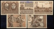 Leobschtz, Polen 5,10,25,50,75 Pfg., Grabowski 793,1