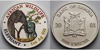 5000 Kwacha1 ozØ 39 mm 2001 Sambia/Zambia Elefant - African Wildlife 3.... 195,00 EUR  +  17,00 EUR shipping