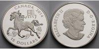 15 $ 2014 Kanada Jahr des Pferdes (Chin.Kalender'2014), inkl. Etui & Ze... 89,00 EUR  +  17,00 EUR shipping