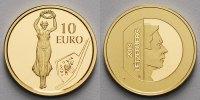Luxemburg 10 Euro 3,11g fein 16 mm Ø Golden Lady,(Bildhauers Claus Cito 1882 - 1965)inkl. Etui & Zertifikat & Schuber