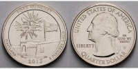1/4 $ 2013 S USA Fort Mc Henry /S - Kupfer-Nickel - vz  2,00 EUR  +  7,00 EUR shipping