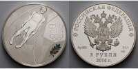 Russland 3 Rubel 2013 <b>PP</b> Winter Oly...