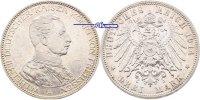 3 Mark 1914 Preussen Wilhelm II, 25jähriges Regierungsjubiläum, J.113 P... 32,00 EUR