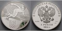 Russland 3 Rubel 2014 <b>PP</b> Winter Oly...