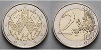 2 Euro 2014 Frankreich Welt - AIDS - Tag,  stgl  5.44 US$ 4,90 EUR  +  12.21 US$ shipping