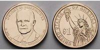 1 $ 2015 D USA Dwight D. Eisenhower / Kupfer-Nickel, Denver vz  3,50 EUR  + 7,00 EUR frais d'envoi