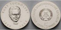 5 Mark 1990 Deutschland, DDR Kurt Tucholsky, Ku.-Ni.,-Archivbild- stgl.  88,00 EUR  +  17,00 EUR shipping