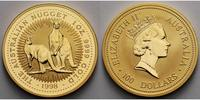 Australien 1 oz./ 31,1g. fein 100 Dollar, Knguruh, Nugget  999.9 Gold,in d.originaler quadratische Mnzkapsel