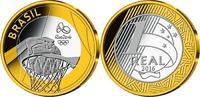 1 Reais 2015 Rio Oly. Sommer Rio 2016 - Basketball 05 / 16, im original... 14,95 EUR  +  7,00 EUR shipping