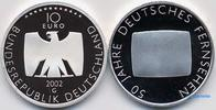 10 Euro 2002 Deutschland 50 Jahre Deutsches Fernsehen,5. Ausg. in 2002 PP  37,00 EUR  + 17,00 EUR frais d'envoi