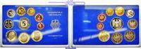 Deutschland 12,68 DM Amtlicher Kursmünzensatz in blauem Epalux