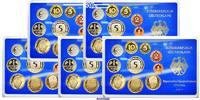 63,40DM 1998 A/D/F/G/J SET Deutschland Amtlicher Kursmünzensatz in blau... 72.16 US$ 65,00 EUR  +  38.86 US$ shipping