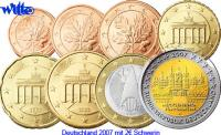 1 Cent -2 Euro, 3.88 2007 D Deutschland Kursmünzen, kompl. Satz 2007 D,... 14,00 EUR  + 7,00 EUR frais d'envoi