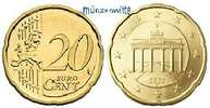 20 Cent 2007 F Deutschland Kursmünze, 20 Cent stgl  2.75 US$ 2,50 EUR  +  12.09 US$ shipping