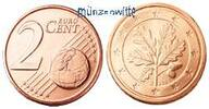 2 Cent 2002 A Deutschland Kursmünze, 2 Cent stgl  0.66 US$ 0,60 EUR  +  12.09 US$ shipping