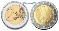2 Euro 2010 J Deutschland Kursmünze, 2 Euro * stgl  19.44 US$ 17,50 EUR  +  12.22 US$ shipping