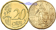 20 Cent 2010 Frankreich Kursmünze, 20 Cent stgl  8.77 US$ 7,90 EUR
