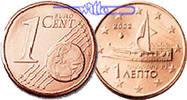 1 Cent 2004 Griechenland Kursmünze, 1 Cent stgl  5,00 EUR