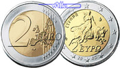 2 Euro 2006 Griechenland Kursmünze, 2 Euro stgl  24,50 EUR  +  7,00 EUR shipping