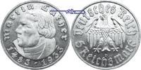 5 RM 1933 D 3. Reich 1933 - 1945 Martin Luther, zum 450. Geburtstag Sil... 395,00 EUR  +  17,00 EUR shipping
