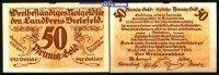 50 Pfennig-Gold = 5/42 Dollar  1923.11.28 Bielefeld, Papier Landkreis, ... 20,00 EUR  + 7,00 EUR frais d'envoi