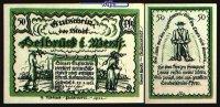 50 Pfg  1921.01.27 Delbrück Westfalen Stadt 27.1.1921, Wz Ovalmuster I-  5,00 EUR  + 7,00 EUR frais d'envoi