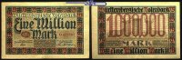 1 Million Mark  1923.06.15 Württemberg Notenbank Stuttgart, Grab. WTB 1... 13.33 US$ 12,00 EUR