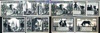 25,50,75 Pf. 1, 2 Mark  1921.11.10 Paderborn, Stadt, 7.Ausgabe Schatten... 5,00 EUR  excl. 7,00 EUR verzending