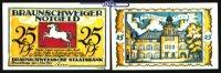 25 Pfg  1921,05,01 Braunschweig Braunschweiger Staatsbank, Serie Blanke... 2.00 US$ 1,80 EUR