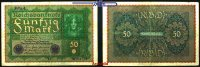 50 Mark 1919 24,6 Deutsches Reich Inflation, Reichsbanknote, Ro.62d, so... 8,00 EUR  +  7,00 EUR shipping