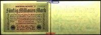 50 Millionen Mark 1923 1.09 Deutsches Reich Inflation, Reichsbanknote, ... 1,80 EUR  + 7,00 EUR frais d'envoi