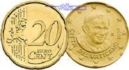 20 Cent 2007 Vatikan Kursmünze, 20 Cent stgl  7030 руб 95,00 EUR  +  2590 руб shipping