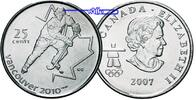 25 Cent 2007 Vancouver Oly Winter Vancouver 2010 Eishockey stgl-Kupfer-... 2,50 EUR  +  7,00 EUR shipping