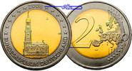 2 Euro 2008 D Deutschland Hamburger MichelPrägestätte D stgl  3,50 EUR  excl. 7,00 EUR verzending