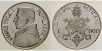 Vatikan 1000 Lire Papst Johannes Paul I. / Sede Vacante