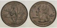 1/4 $ 2003 D USA Illinois D - Kupfer-Nickel - vz  5,00 EUR  +  7,00 EUR shipping