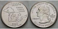 1/4 $ 2004 D USA Michigan D - Kupfer-Nickel - vz  5,00 EUR  +  7,00 EUR shipping
