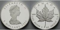 5 $ 1989 Kanada Maple Leaf mit Pappschuber PP  95,00 EUR  +  17,00 EUR shipping