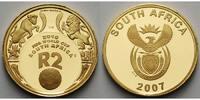 1/4 oz.7,78gfein,2 Rand22 mm Ø 2007 Süd-Afrika Fußball Weltmeisterschaf... 498,00 EUR  +  17,00 EUR shipping