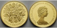 Kanada 100 Dollar,<br> 15,55g fein,<br> 27mm  Florale Embleme der 10 kanadischen Provinz. u.d.Territorien, 1/2Unze im org.Etui