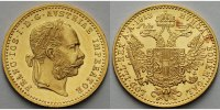 sterreich 1 Dukat<br>3,44g<br>fein<br>20 mm  Franz Joseph I.,1848 - 1916, Gold, <b>RAR</b>