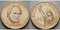 1 $ 2010 D USA James Buchanan / Kupfer-Nickel, Denver vz  3.89 US$ 3,50 EUR  +  12.21 US$ shipping