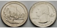 1/4 $ 2010 D USA Yosemite /D - Kupfer-Nickel - vz  2,00 EUR  +  7,00 EUR shipping